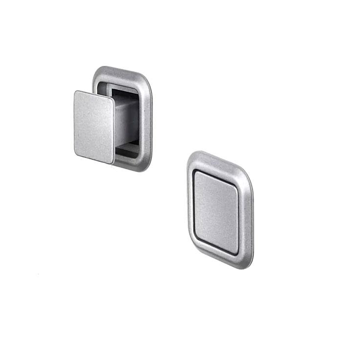 Pomolo quadro push and pull alluminio opaco